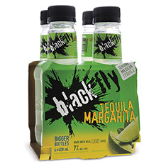 BLACK FLY TEQUILA MARGARITA PET 4 PK-B