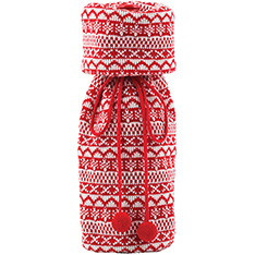 RED & WHITE KNIT BOTTLE BAG - P9 2013