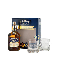 GIBSON'S FINEST 12 YO WITH 2 GLASSES**