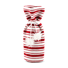 RED/WHITE KNIT BOTTLE BAG - P9 2015
