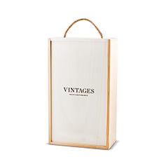 VINTAGES WOODEN BOX - 2 BOTTLE