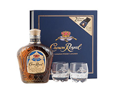 CROWN ROYAL W/GLASSES GIFT TIN
