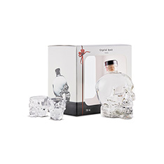 CRYSTAL HEAD GIFT PACK WITH 2 SHOT GLASSES