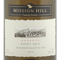 MISSION HILL FAMILY RESERVE PINOT GRIS 2014